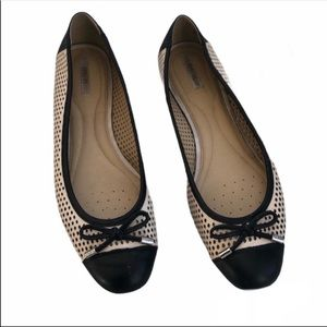 Geox | Lola Perforated Ballet Flats Nude & Black
